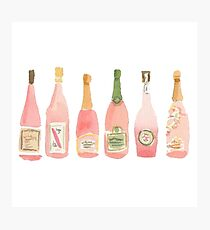Pink Champagne Photographic Print