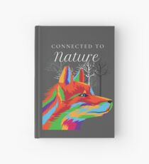 Wolf Connected to Nature Hardcover Journal