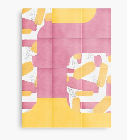 Bold Painted Tiles 01 #redbubble #midmod Metal Print