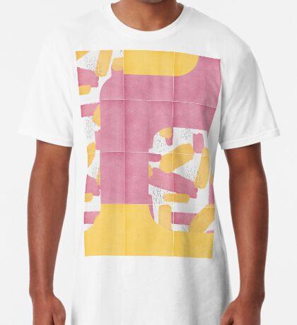 Bold Painted Tiles 01 #redbubble #midmod Long T-Shirt