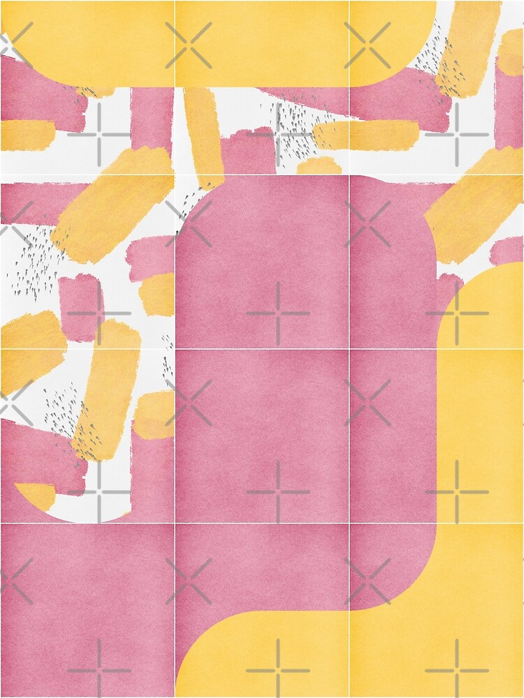 Bold Painted Tiles 02 #redbubble #midmod by designdn