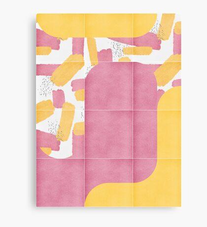 Bold Painted Tiles 02 #redbubble #midmod Canvas Print