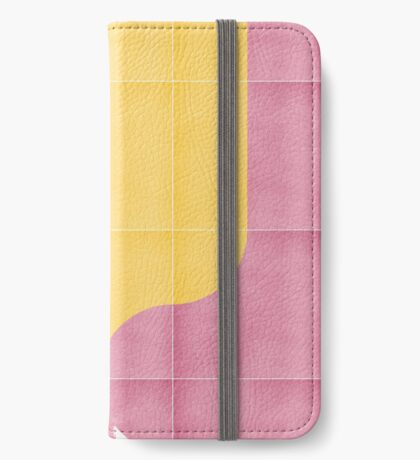 Bold Painted Tiles 03 #redbubble #midmod iPhone Wallet