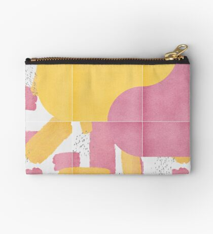 Bold Painted Tiles 03 #redbubble #midmod Zipper Pouch