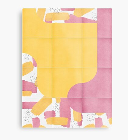 Bold Painted Tiles 03 #redbubble #midmod Metal Print