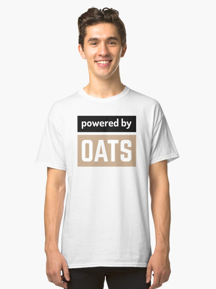 Alternate view of powered by oats Classic T-Shirt