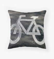 Bicyclette Throw Pillow