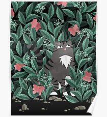 Butterfly Garden (Tabby Cat Version) Poster