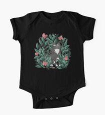 Schmetterlingsgarten (Tabby Cat Version) Baby Body Kurzarm