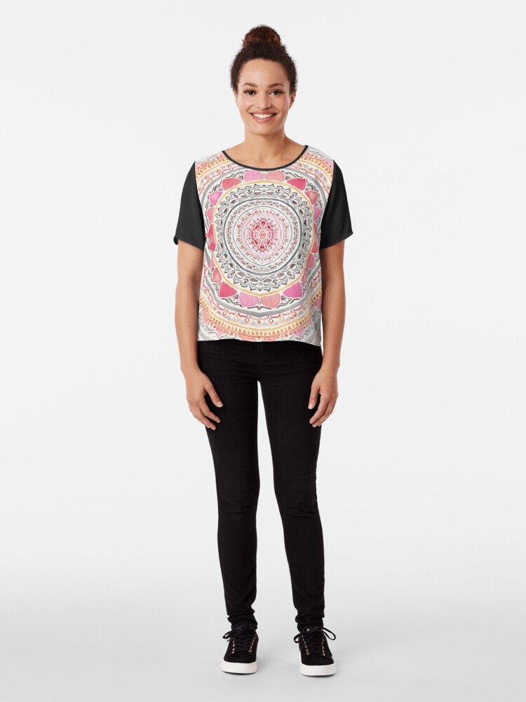 Alternate view of Pastel Bohemian Mandala Chiffon Top