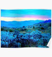 sagebrush blue dawn Poster