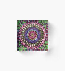 Delicious Singing Petals Mandala Acrylic Block