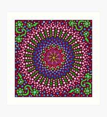 Delicious Singing Petals Mandala Art Print