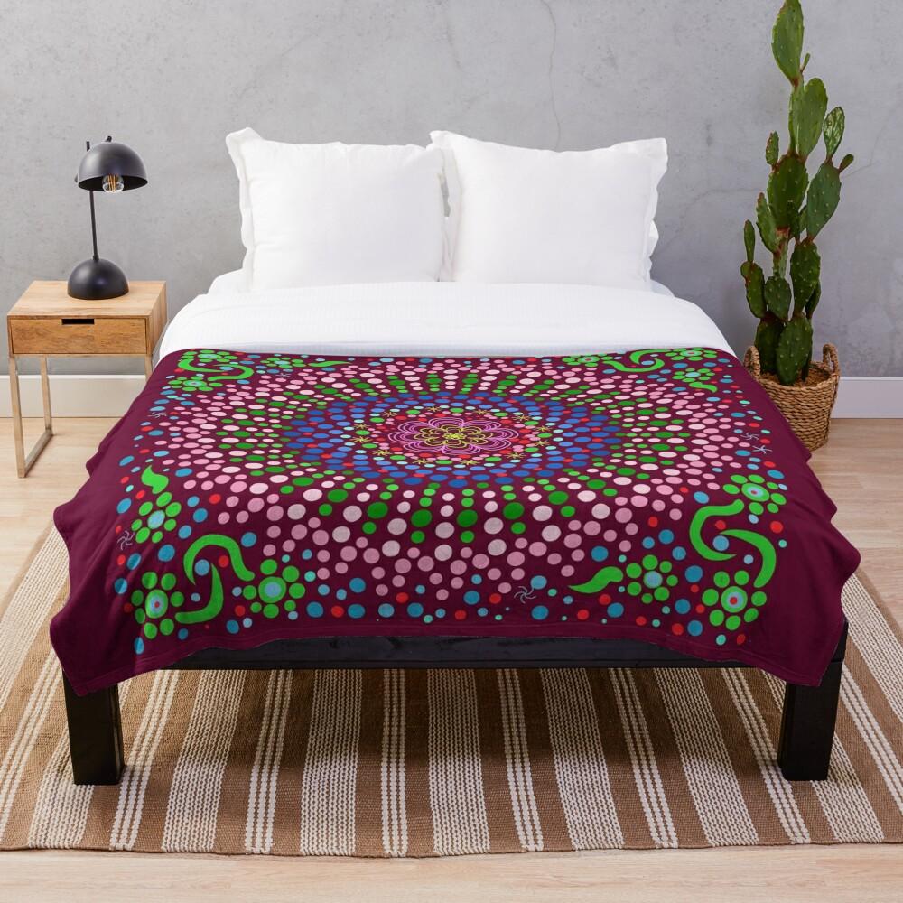 Delicious Singing Petals Mandala Throw Blanket