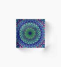 Undersea Whirpool Mandala Acrylic Block