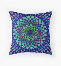 Undersea Whirpool Mandala Throw Pillow