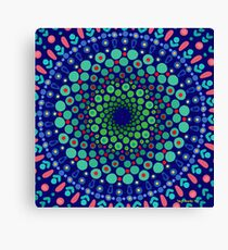 Undersea Whirpool Mandala Canvas Print