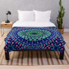 Undersea Whirpool Mandala Throw Blanket