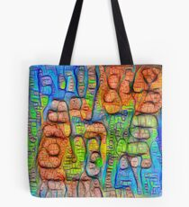 #Deepdreamed abstraction Tote Bag