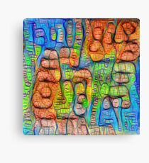 #Deepdreamed abstraction Canvas Print