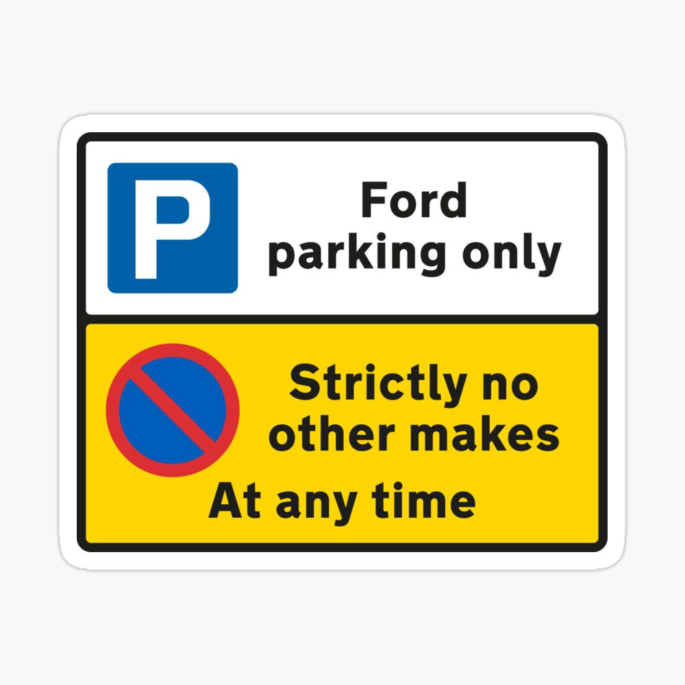 Mondeo ST Ford Parking Sign Novelty Gift