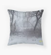 Snow Scene 2 Throw Pillow