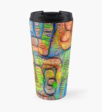 #Deepdreamed abstraction Travel Mug