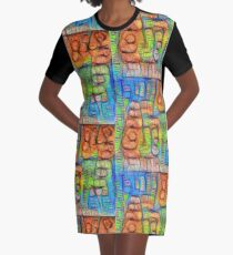 #Deepdreamed abstraction Graphic T-Shirt Dress