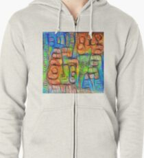 #Deepdreamed abstraction Zipped Hoodie