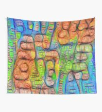 #Deepdreamed abstraction Wall Tapestry