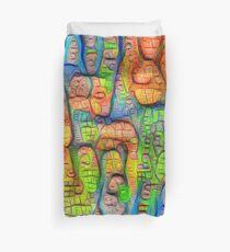 #Deepdreamed abstraction Duvet Cover