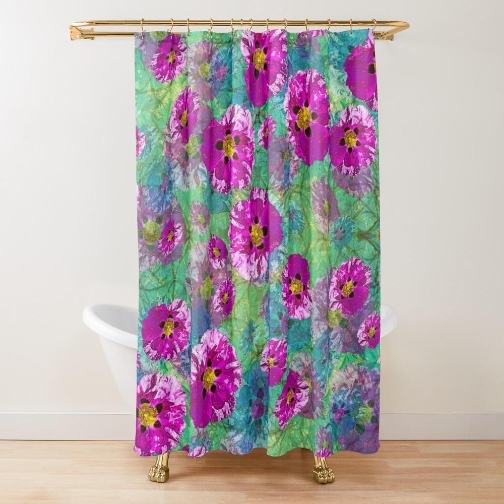 PURPLE ROCK ROSE CISTUS PURPUREA  Shower Curtain