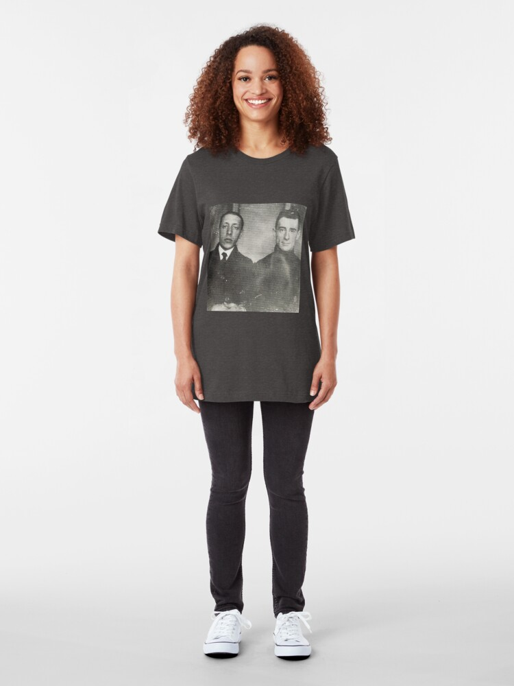 Alternate view of Igor Stravinsky and Maurice Ravel - Brilliant Composers Slim Fit T-Shirt