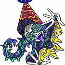 rezz artwork logo HD Brille 2/2 blau von daviide