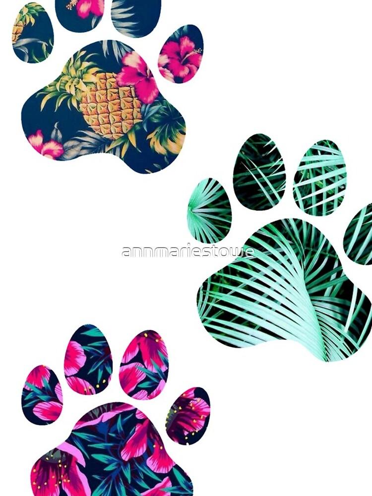 Tropisches Pfotenabdruck-Trio von annmariestowe