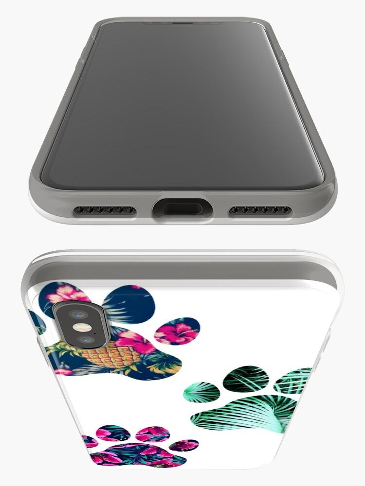 Alternative Ansicht von Tropisches Pfotenabdruck-Trio iPhone-Hüllen & Cover