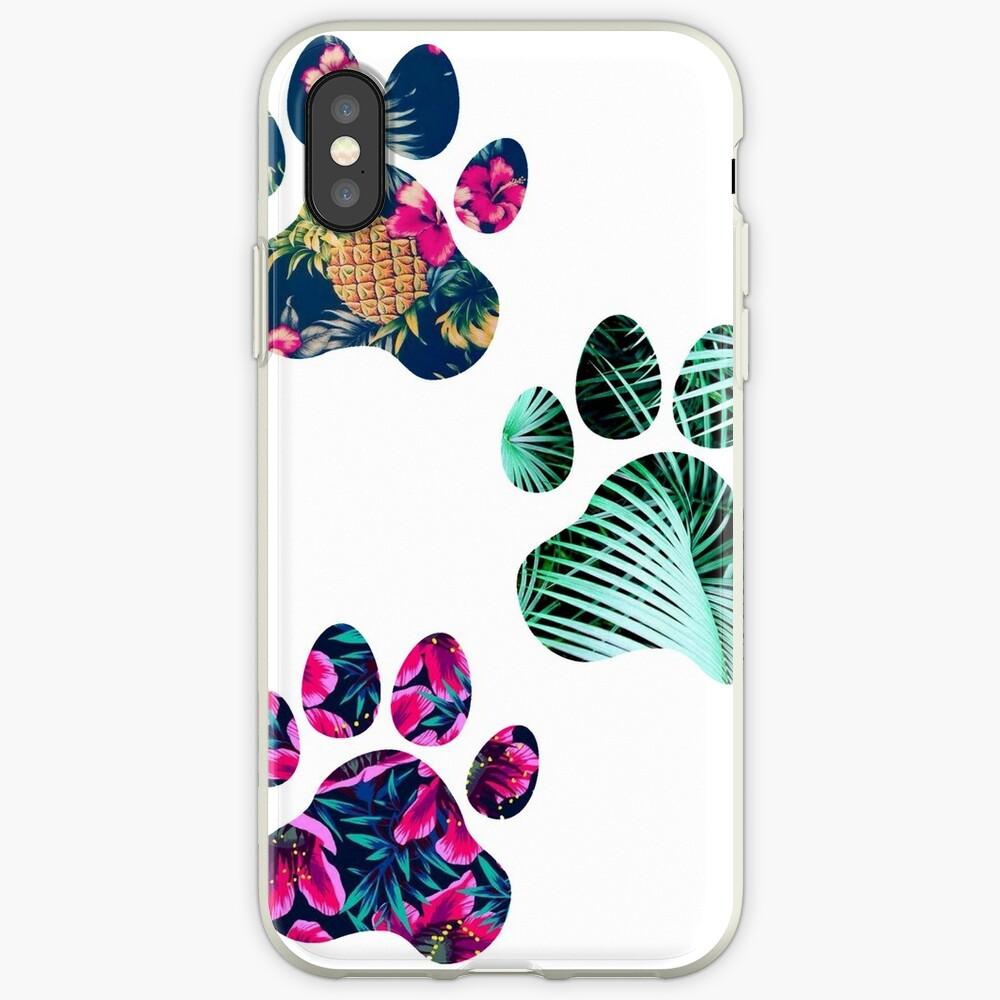 Tropisches Pfotenabdruck-Trio iPhone-Hüllen & Cover