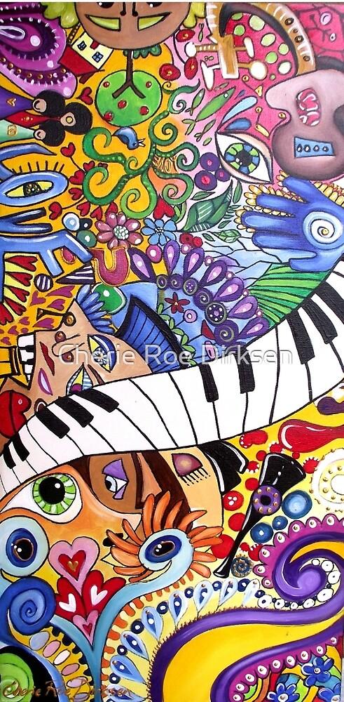 'Metamorphic Dilatation' - The Beatles (No. 2 in the Rock Music Art Series) by Cherie Roe Dirksen