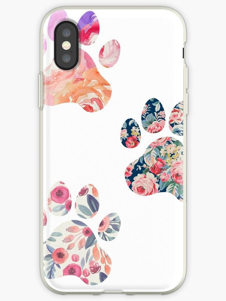 «Floral Paw Print Trio» de annmariestowe