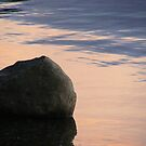 liquid sunset - stone on bank of Derwent Water by monkeyferret