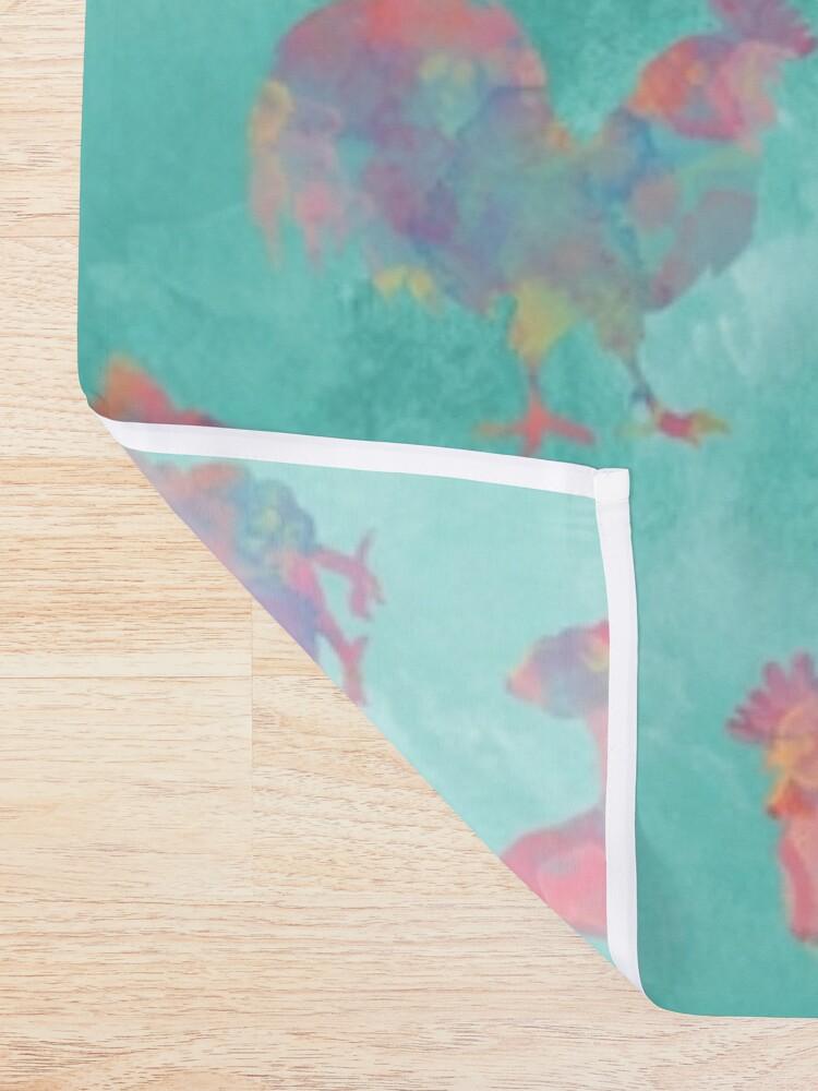 Alternate view of Rainbow Chickens Shower Curtain
