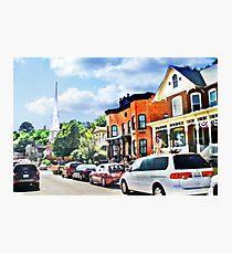 Bench Street, Galena Illinois Photographic Print