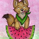 Melon Coyote - A Summertime Treat! by CGafford