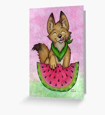 Melon Coyote - A Summertime Treat! Greeting Card
