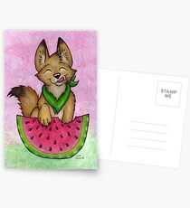 Melon Coyote - A Summertime Treat! Postcards