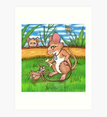 The Cricket Trainer - A Mouse's Pet Art Print