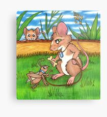 The Cricket Trainer - A Mouse's Pet Metal Print