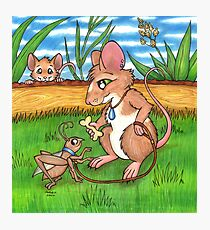 The Cricket Trainer - A Mouse's Pet Photographic Print