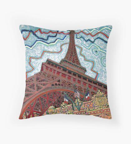 Paris, France, Las Vegas, Nevada, USA Throw Pillow