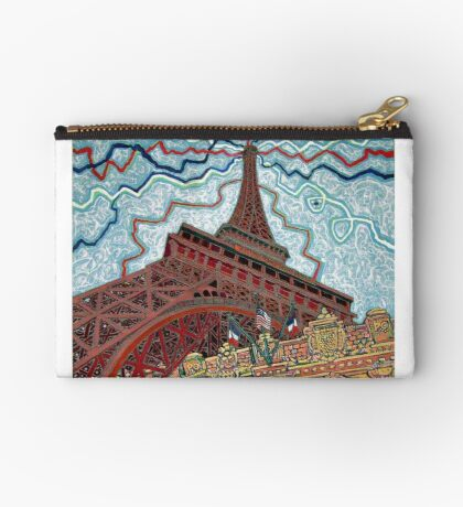 Paris, France, Las Vegas, Nevada, USA Zipper Pouch